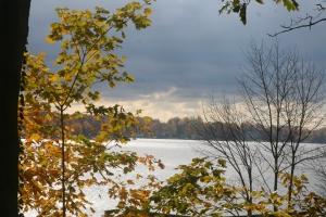 Paw Paw Lake in Fall